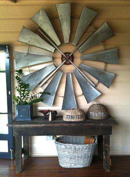 Vintage Windmill Wings Repurposed as a Decor Home Improvement