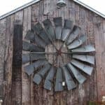 Vintage Windmill Wings Repurposed as a Decor