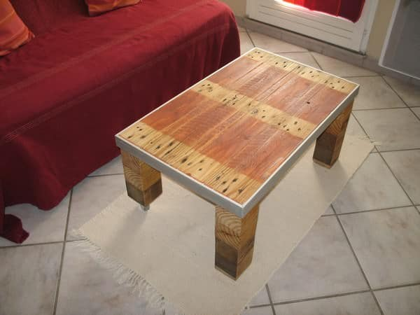 Industrial Pallet Coffee Table Recyclart