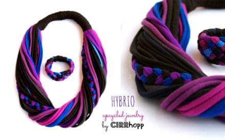 Unwanted T-shirts or Soft Hybrio Scarf-necklace