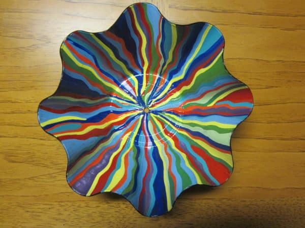 Painted Vinyl Record Bowl Recyclart