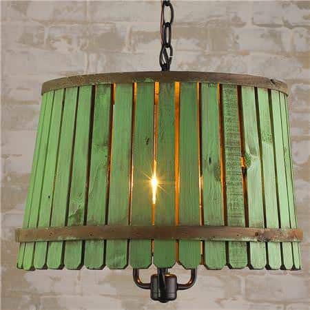 Reclaimed Bushel Basket Into Pendant Lamp Lamps & Lights