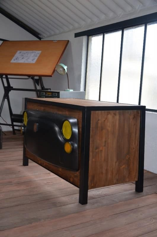 Tribute To Old Car Industrial Desk Recycled Furniture
