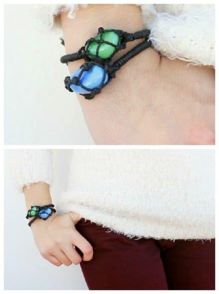 Diy: Netted Stone Friendship Bracelets