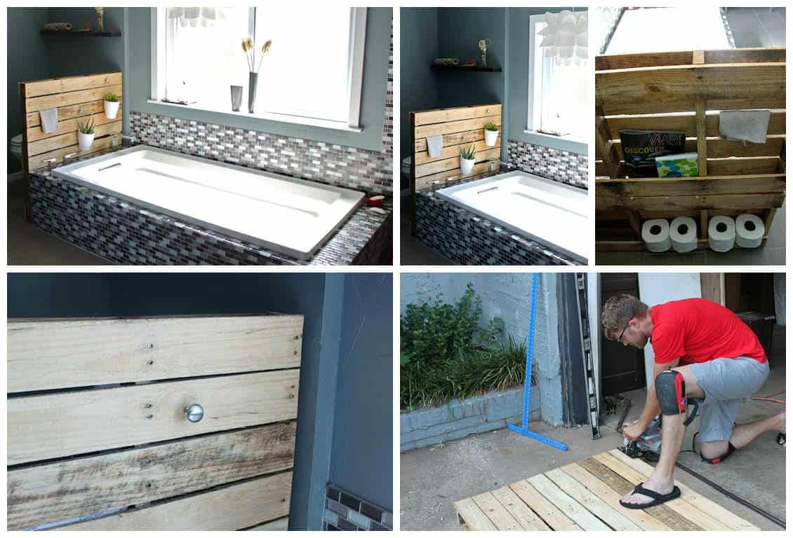 Bathroom Shelf Made From Repurposed Pallet • Recyclart