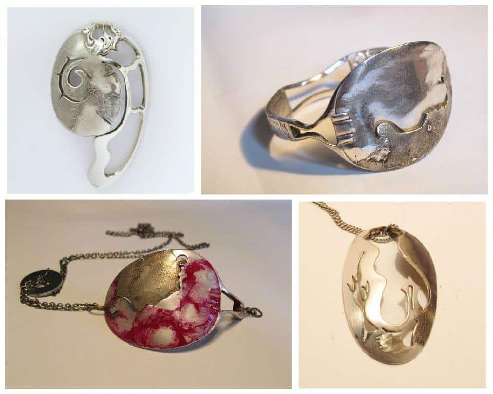 Upcycled Spoon Art & Jewelry • Recyclart