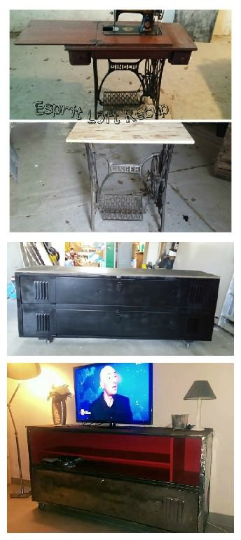 Détournement D'objets En Mobilier Industriel / Upcycled Industrial Furniture