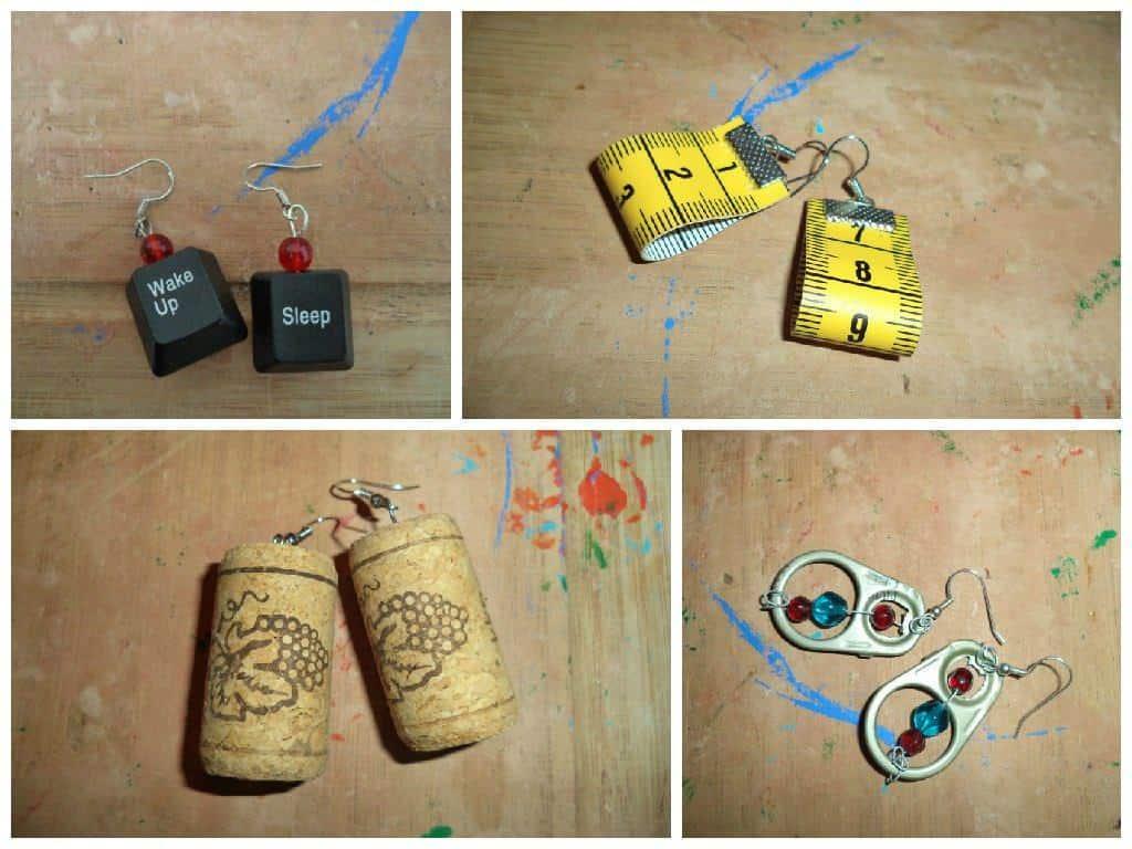 Recycled Earrings • Recyclart