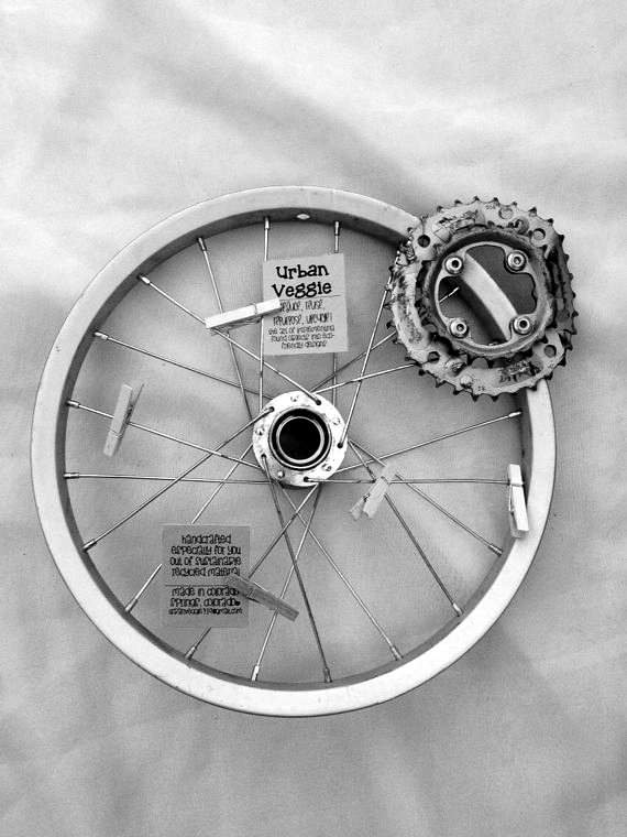 Bike Wheel Upcycled Into Message Board Upcycled Bicycle Parts