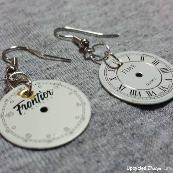 Upcycled Watch Face Earrings Do-It-Yourself Ideas Upcycled Jewelry Ideas