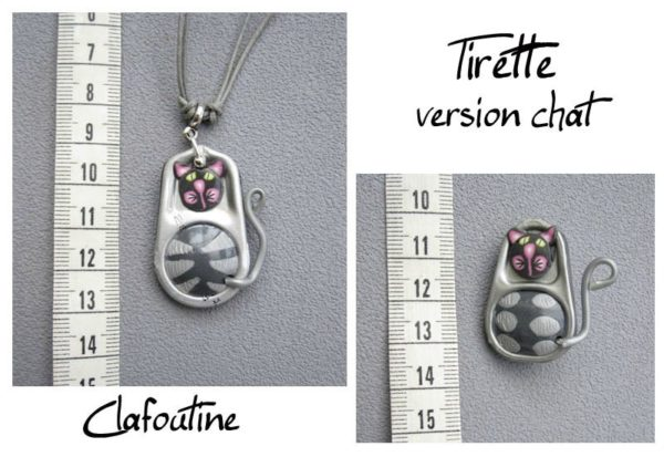 Soda Can Pop Tabs + Polymer Clay = Little Dolls Jewelry Upcycled Jewelry Ideas
