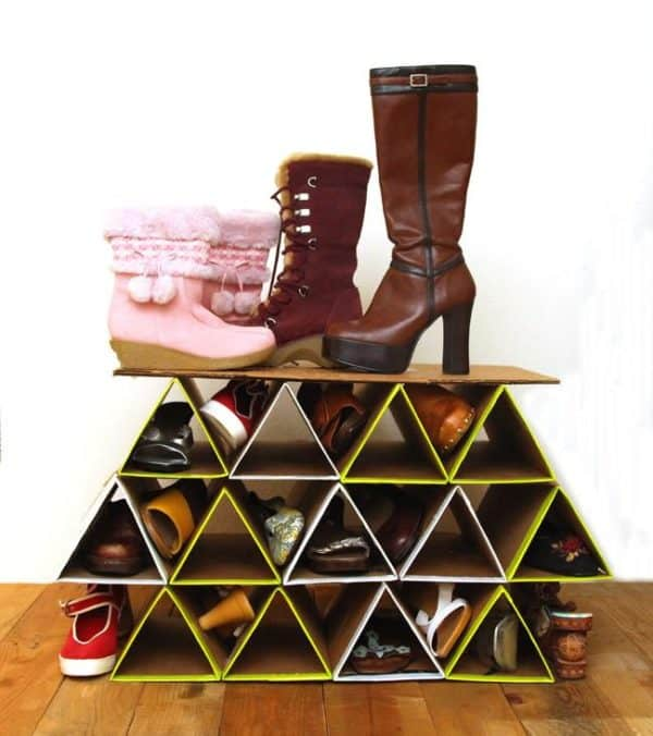 Diy super space saving shoe organizing rack recyclart diy super space saving shoe organizing rack accessories do it yourself ideas recycled solutioingenieria Gallery