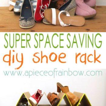 DIY: Super Space Saving Shoe Organizing Rack
