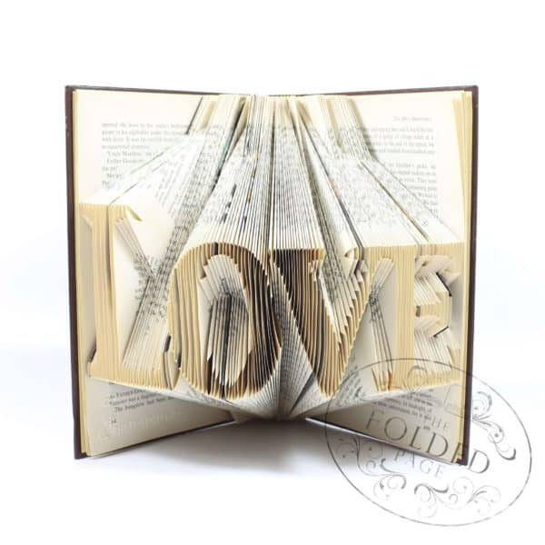 Folded Book Art Recycled Art Recycling Paper & Books
