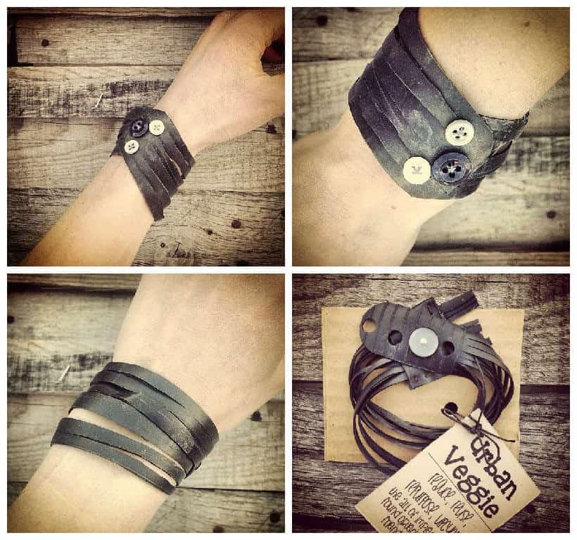 Custom Bike Innertube Bracelets • Recyclart