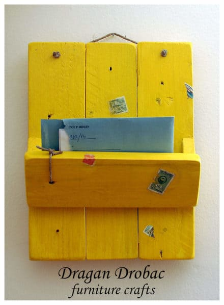 Daily Mail Organizer From Recycled Pallet