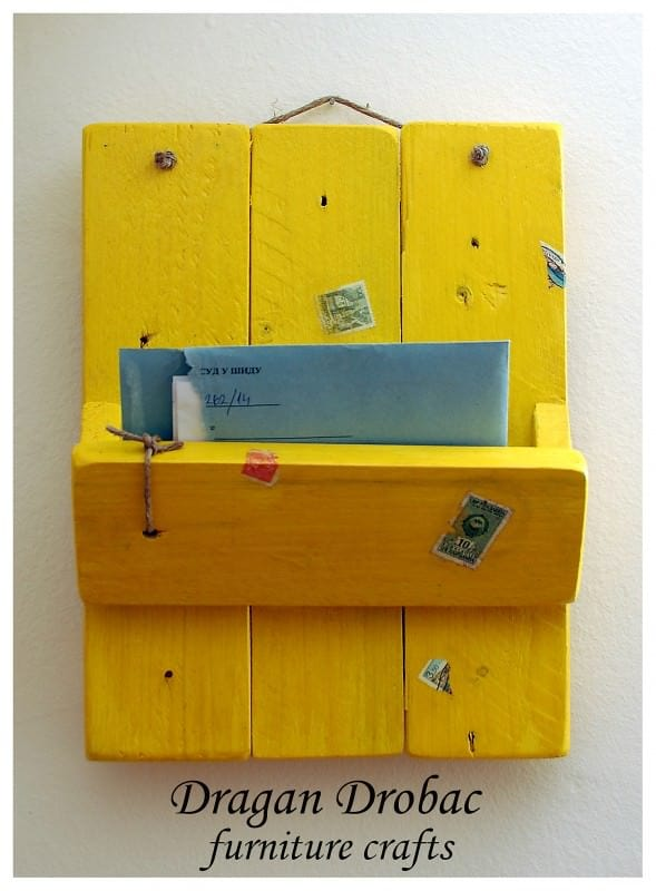Daily Mail Organizer From Recycled Pallet Recycled Pallets