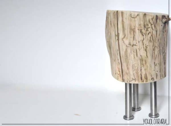 Diy: Wood Log Nightstand Do-It-Yourself Ideas Wood & Organic