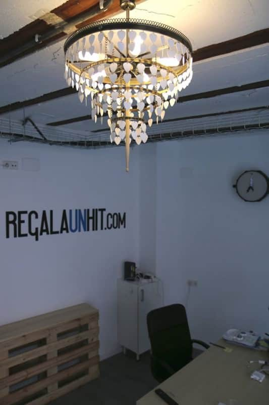 Upcycled Guitar Picks And Drum Stick Into Beautiful Chandelier Lamps & Lights