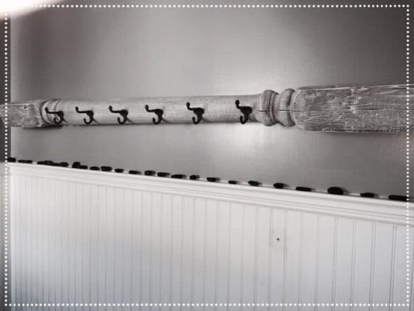 Upcycled Wood Column Into Coat Rack Wood & Organic
