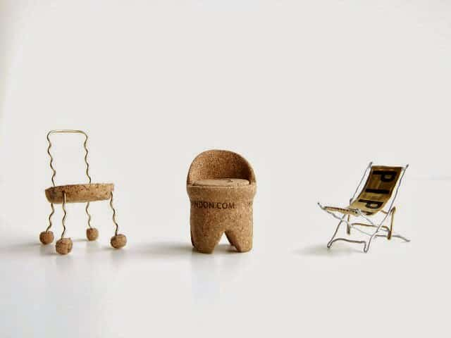 Single Champagne Cork Miniature Chairs Dwr Contest • Recyclart