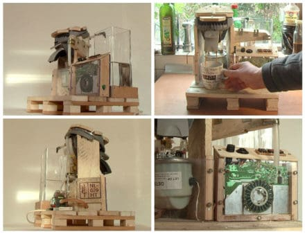 Reclaimed Pallet Coffee Machine