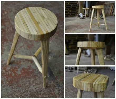 Recycled Pallet Into Stools
