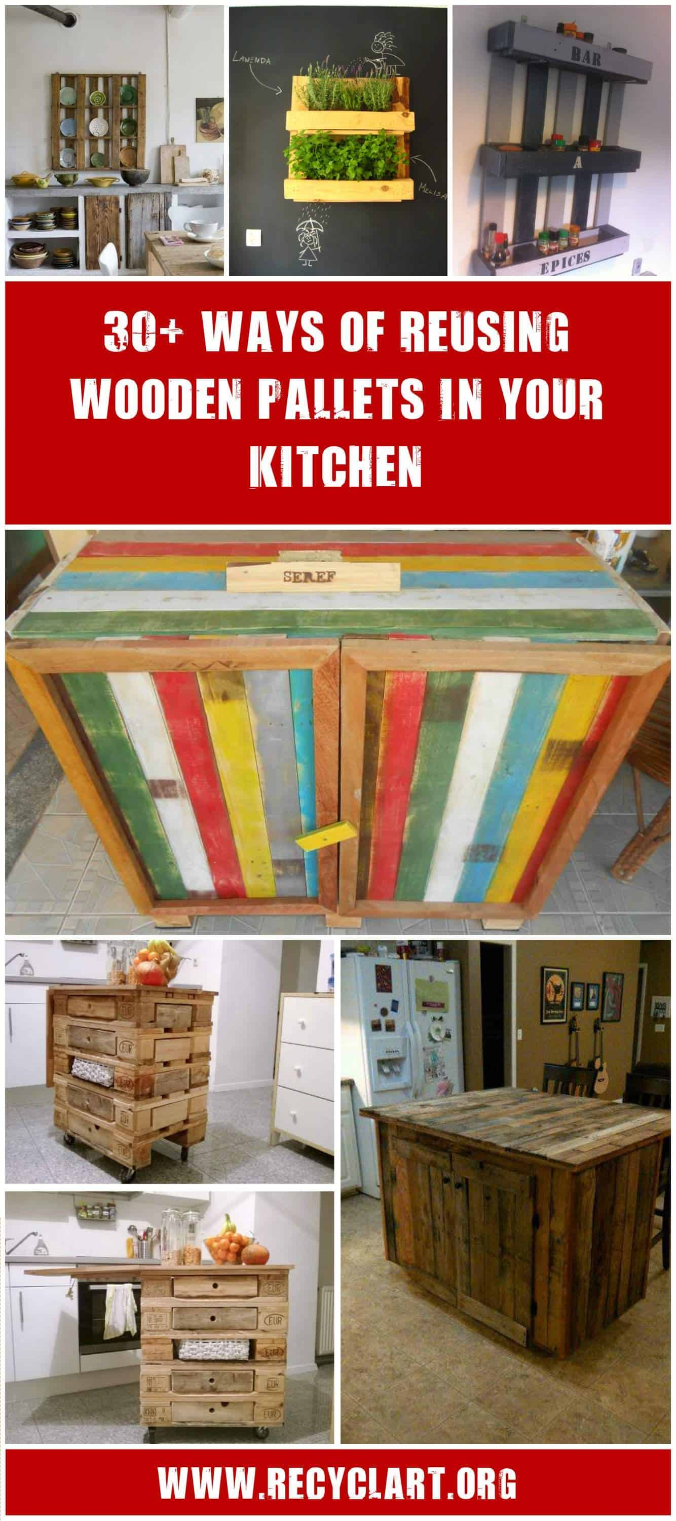 Pallet Kitchen Furniture 30 Ways Of Reusing Wooden Pallets In Your Kitchen O Recyclart