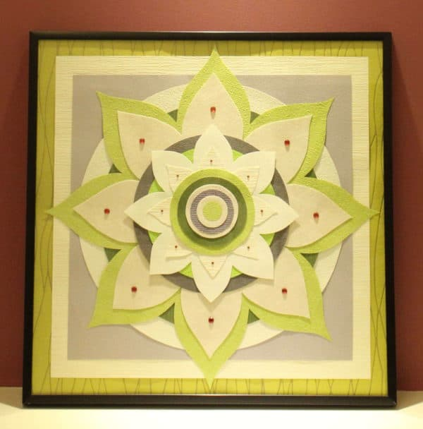 Mandala From Recycled Paper Recycled Art Recycling Paper & Books