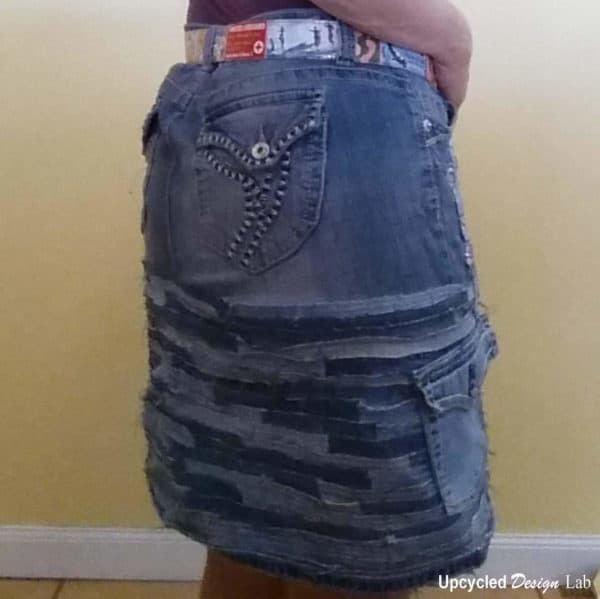Denim Do Over – Upcycled Denim Skirt Clothing Do-It-Yourself Ideas