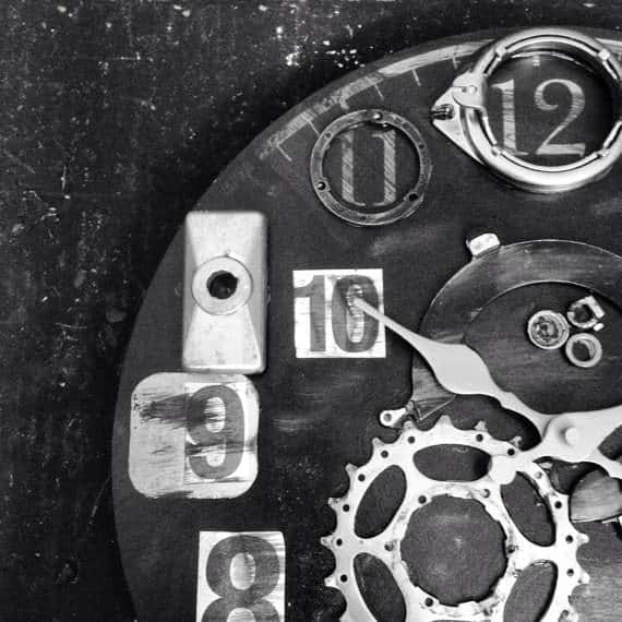 Bike Enthusiast Clock Upcycled Bicycle Parts