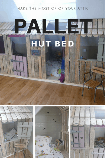 Pallet Kids Hut To Hide The Beds In The Attic Of A Bedroom