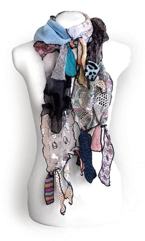 Kesidov Upcycled Silk Scarves Accessories Clothing