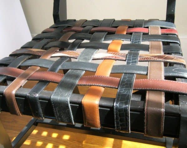 Woven Belt Chair Recycled Furniture