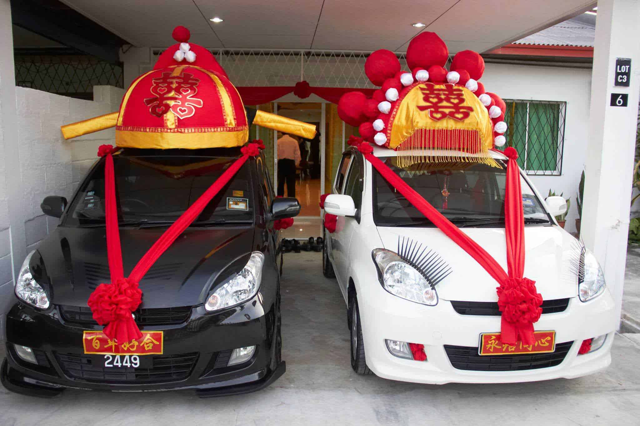 Homemade Chinese Wedding Car Decoration Recyclart