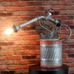 Repurposed Industrial Steam Punk Gas Pump Into Lamp