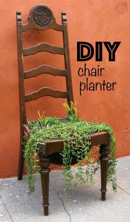 Diy: Chair Planter