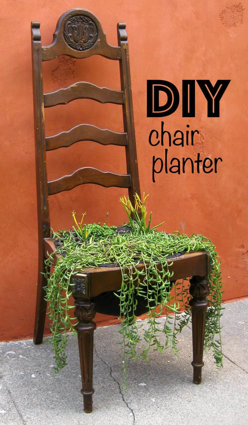 Diy Chair Planter Recyclart