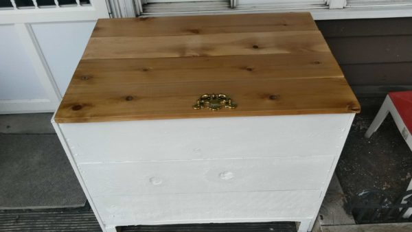 Wooden Shipping Box Turned Into Storage Box Accessories Wood & Organic