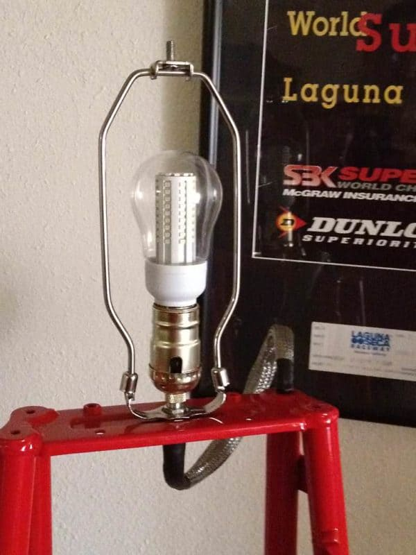 Duclamp: Floor Lamp Made From Upcycled Ducati St4 Frame Lamps & Lights Upcycled Bicycle Parts