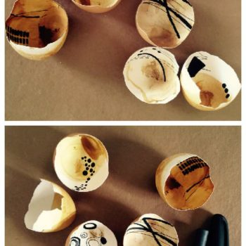 Painted Egg Shell Shards