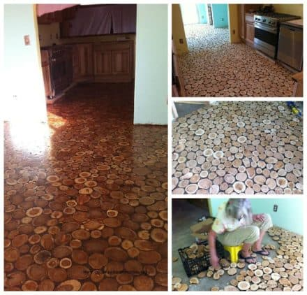 Gorgeous Cordwood Flooring by Sunny