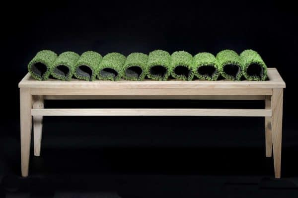 The Grass Still Grows: A Sustainable Bench By Marron Rouge And Benjamin Rousse Recycled Furniture