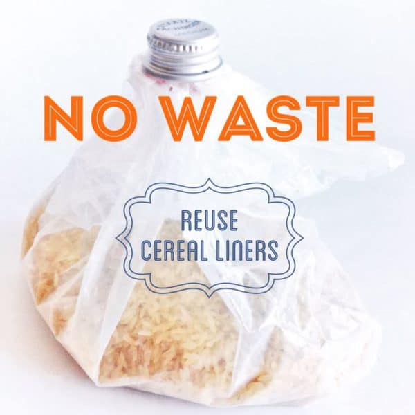 Upcycle A Cereal Liner Do-It-Yourself Ideas Recycled Packaging Recycled Plastic