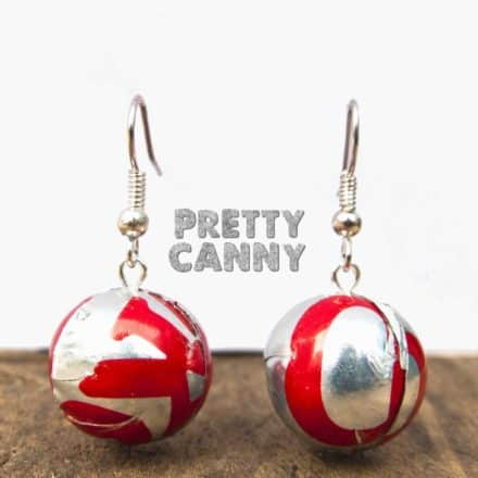The Lightest Earrings Made From Repurposed Cans