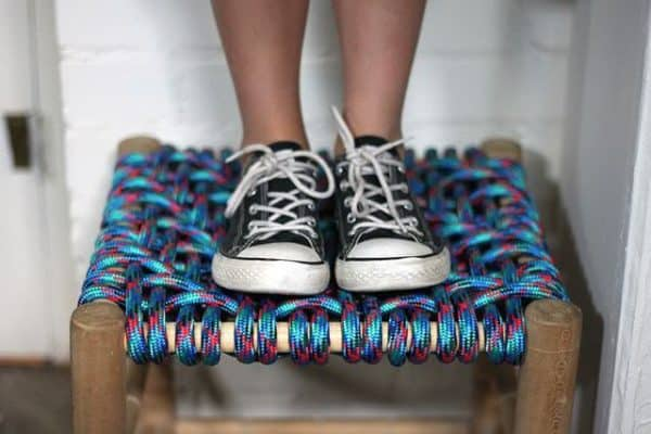 Diy: How To Restore A Woven Stool With Rope Do-It-Yourself Ideas Recycled Furniture