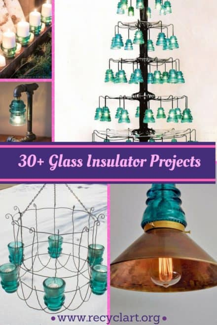 30+ Creative Ideas Using Vintage Glass Insulators