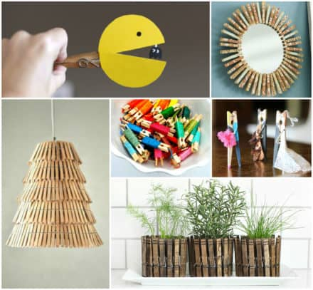 50+ Creative Ways of Reusing Clothespins