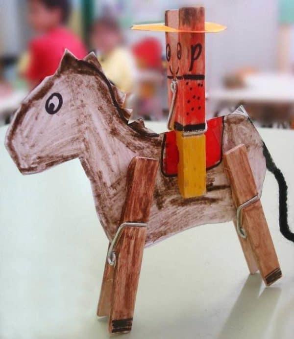 homemade-clothespin-diy-cowboy-kids-idea-horse