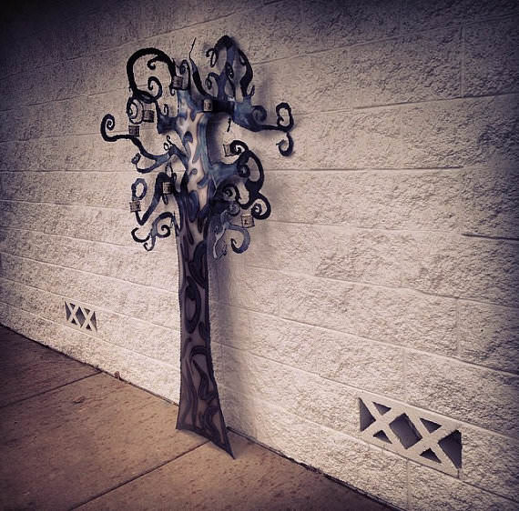 Custom Recycled Steel Designs: Whimsical Tree Edition Accessories Recycling Metal